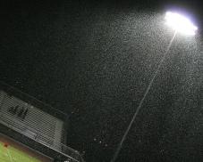 football-raining